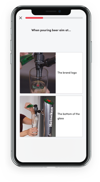 mobile phone with Hello Beer app